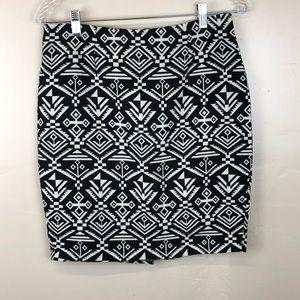 Freeway Aztec Print Abstract Design Mini Skirt
